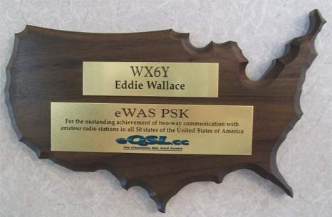 Award plaque for eWAS PSK