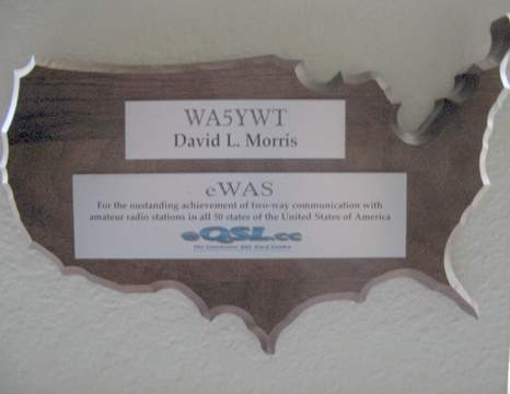 Award plaque for eWAS